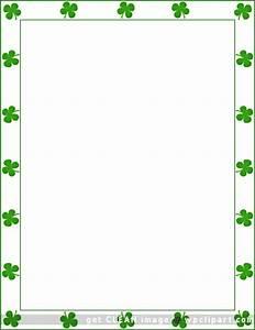 St Patrick 39 S Day Shamrock Border Borders Pinterest