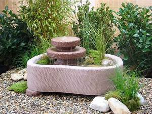 mini teich mit 2 kaskaden springbrunnen wasserspiel With französischer balkon mit pumpe für springbrunnen garten