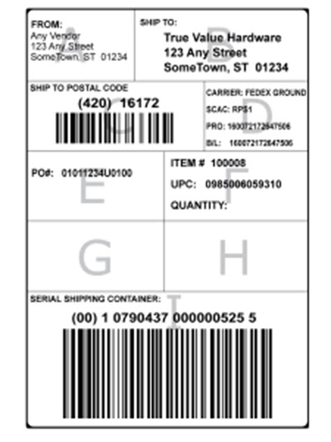 education gs  shipping labels bar code graphics