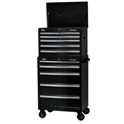 husky 27 in w 11 drawer tool chest and cabinet set h6ch3