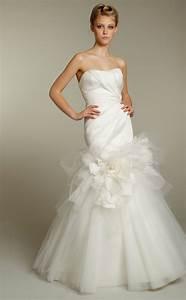 romantic ivory strapless tulle mermaid wedding dress by With tulle mermaid wedding dress