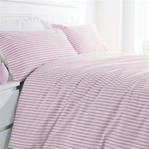rose pink striped duvet cover
