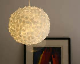 white paper flower pendant light the 3 r s