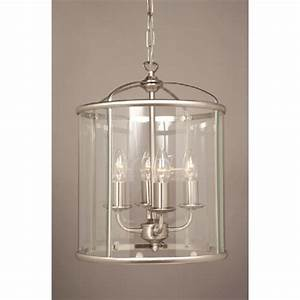 Traditional, Entrance, Hall, Lantern, In, Satin, Nickel, With, 4, Candle, Lights