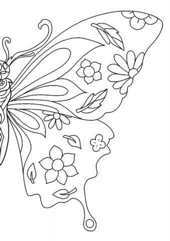 wings  freedom butterfly coloring page  printable coloring pages