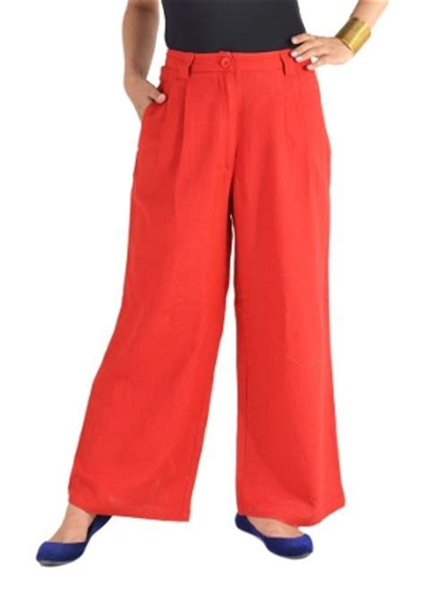 Magnetic Designs Women's Red Palazzo Pants   HomeShop18.com