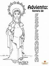 Colorear Para Dibujo Mary Coloring Mother Embarazada Adviento Advent Esperanza Maria Catholic Dibujos Religion Madre María Religious Mama God sketch template