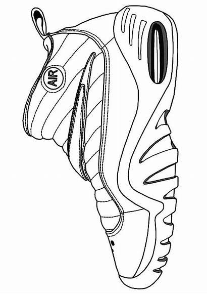 Coloring Jordan Nba Pages Shoes Drawing James
