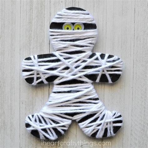 Yarn Wrapped Mummy Craft  I Heart Crafty Things