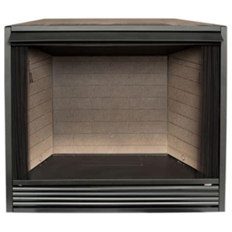 shop procom    black vent  gas fireplace firebox
