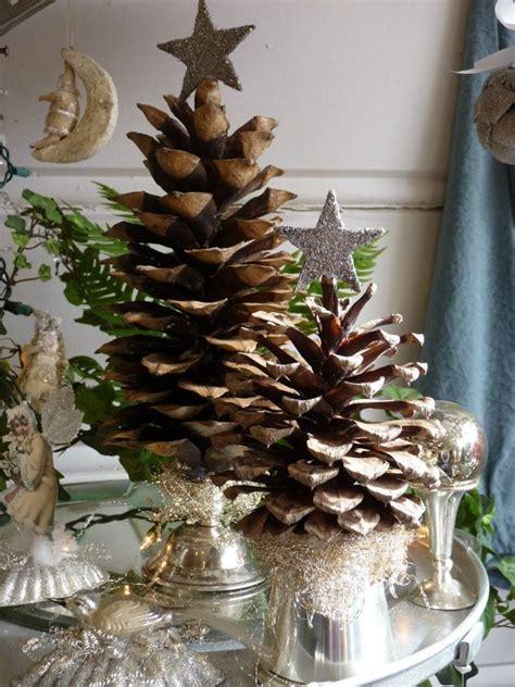 pinecone christmas trees diy christmas  pinterest
