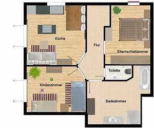 80 Qm Wohnung Streichen Lassen Kosten : grundriss wohnung 3 zimmer ~ Michelbontemps.com Haus und Dekorationen