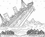 Titanic Coloring Pages Sinking sketch template