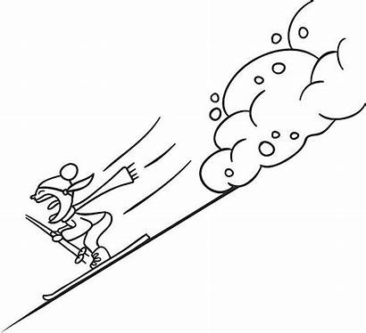 Landslide Drawing Vector Illustrations Clip Extreme Sports