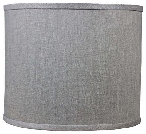 grey drum shade granite gray linen drum l shade 16x16x13 spider 1488