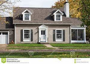 Cape Cod House With Screened In Porch Stock Image Image