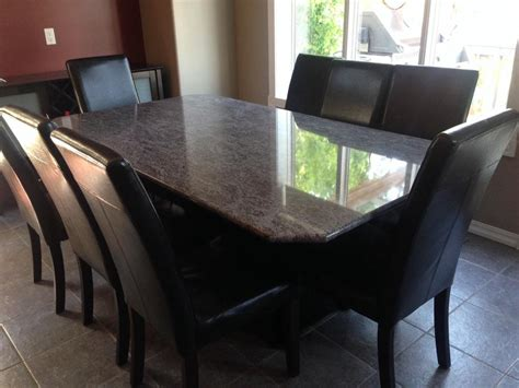 granite dining table and 8 chairs west mobile
