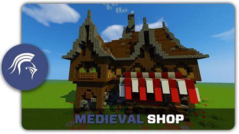 minecraft building tutorial   build  medieval store shop youtube