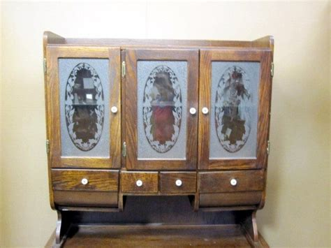 Cupboard Doors For Sale by Antique Kitchen Possum Belly Cabinet Etched Glass Door For