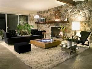 Interior Design: Rustic Kitchen Design and Living Room