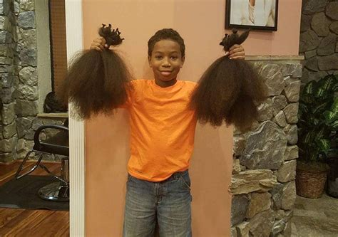 selfless  year  grows hair   years  donate