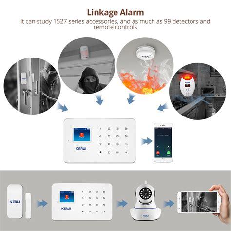 ערכות מערכת אזעקה  Kerui G18 Wireless Home Gsm Security
