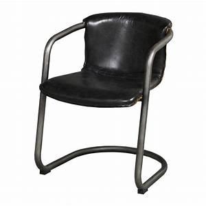 Chaise Vintage Cuir : chaise cuir vintage north noir mobilier ~ Teatrodelosmanantiales.com Idées de Décoration