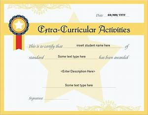 free printable participation certificates extracurricular activities award certificate extra
