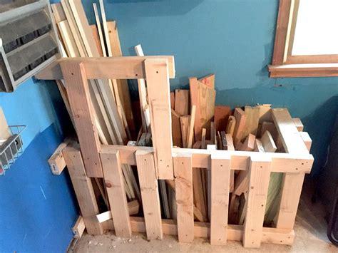 scrap wood storage bin organize  wood scraps