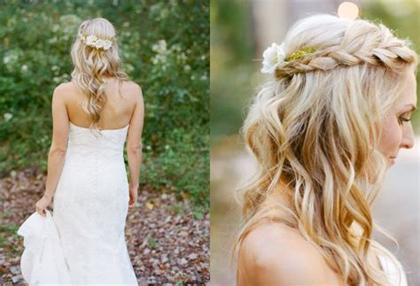 Wedding Hairstyles Down : Best Bridal Wedding Half Up And Half Down Hairstyle