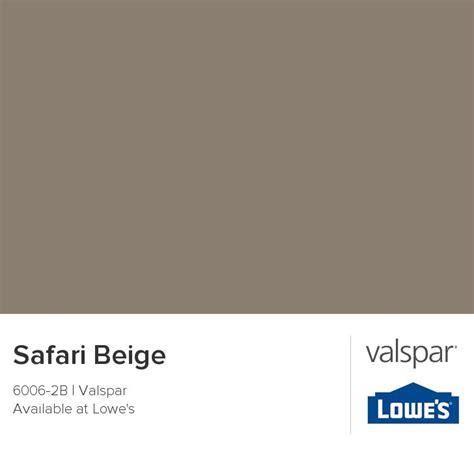safari beige from valspar color pallettes