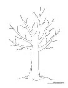 free coloring pages of bare tree outline
