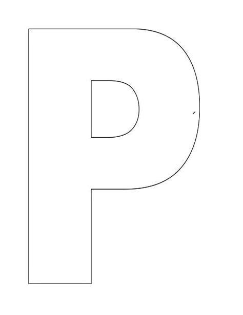 Alphabet Letter P Template