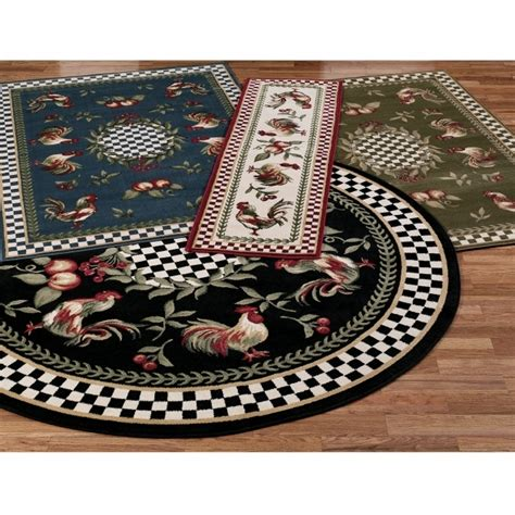 Sitting Pretty Rooster Kitchen Rugs Hooked Slice Rug