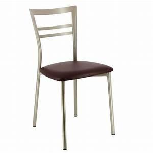Chaise Design Metal : chaise de cuisine design en m tal go 4 pieds tables chaises et tabourets ~ Teatrodelosmanantiales.com Idées de Décoration