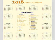 Tamil Calendar 2018 Tamil Panchangam with Festival