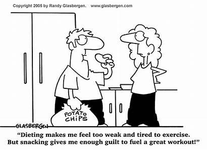 Dieting Cartoon Weight Loss Diet Glasbergen Healthy