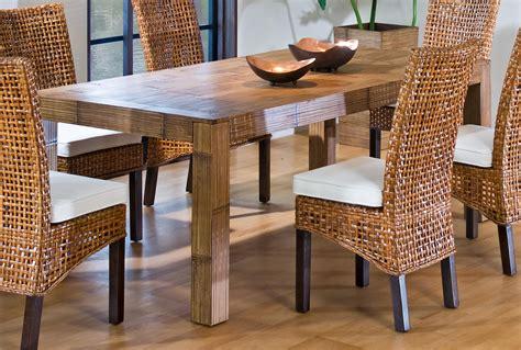 wicker kitchen furniture hospitality rattan indoor rattan wicker rectangular dining table by oj commerce 610 3170 nat b