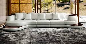 divani casa rodus rounded corner leather sectional sofa With sectional sofas grand furniture