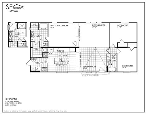 Clayton Homes Commander Floor Plans by Fc Triumph Big J Mobile Homes