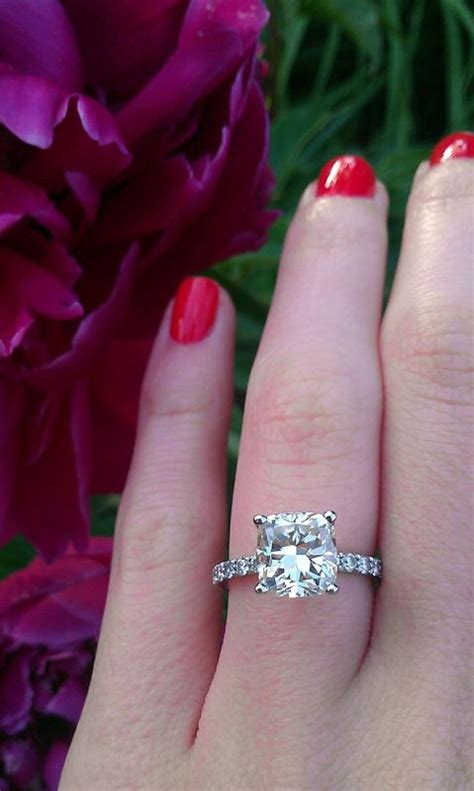 my 2 carat cushion cut engagement ring