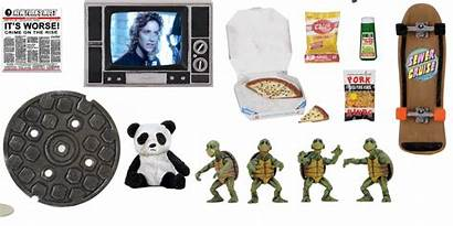 Neca Pack Accessory Turtles Ninja Teenage Tmnt