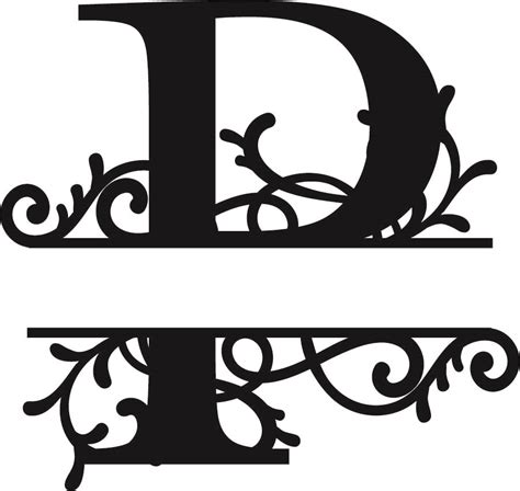 flourished split monogram p letter eps  vector