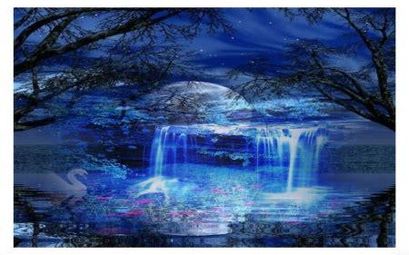 blue waterfall waterfalls nature background wallpapers