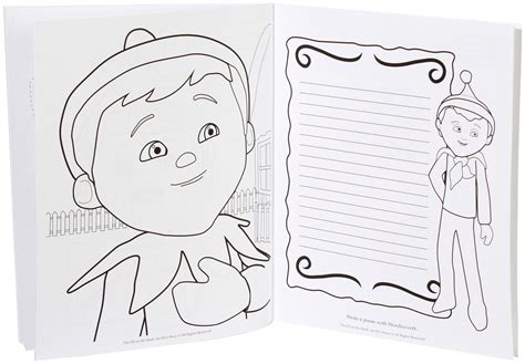 Elves On The Shelf Coloring Page Supercoloring Com Spring Camp