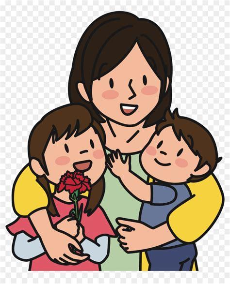 gambar kartun muslimah ibu dan dua anak perempuan