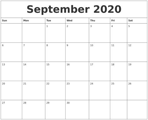 october calendar monthly