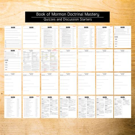 book  mormon doctrinal mastery quizzes  study pages