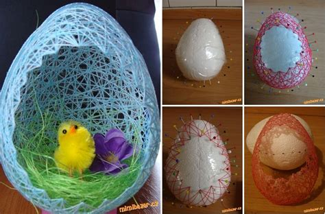Oster Eierbecher Basteln by How To Make Everything Diy Thread Easter Egg Basket