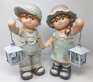 Kind Mit Laterne : deko sommerkinder mit laterne gartenfiguren aus magnesia dekofiguren 35cm ~ Watch28wear.com Haus und Dekorationen